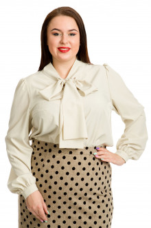 Блузка 617 Luxury Plus (Молочный)