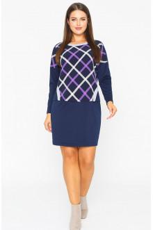 """Платье """"Лина"""" 52116 (Фиолетовый клетка)"""
