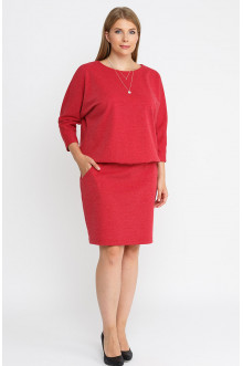 """Платье """"Лина"""" 52110 (Красный меланж)"""