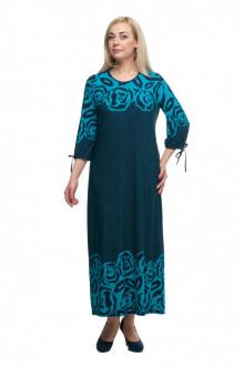 "Платье ""Олси"" 1605045/2 ОЛСИ (Бирюза/розы)"