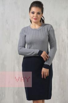 Платье женское 2230 Фемина (Темно-синий/стальной)