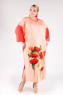 """Платье """"Артесса"""" PP02807MAK33 (Персик)"""