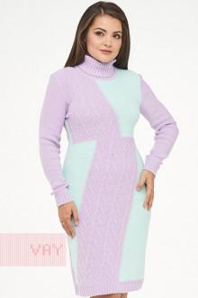 Платье женское 182-2334 Фемина (Лиловый/ментол)